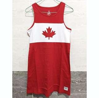 🚚 Roots 加拿大楓葉長版背心洋裝