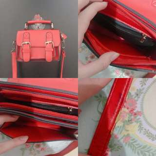Mini red sling bag