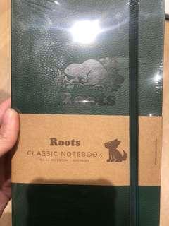 加拿大ROOTS筆記本 全新 送一個roots小提袋