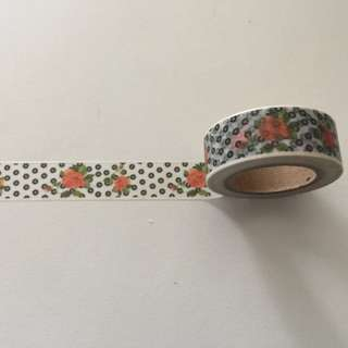 Roses with Dots GJ39 Washi Tape 15mm x 10m