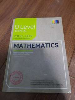 O level Topical Mathematics (2008 - 2017)