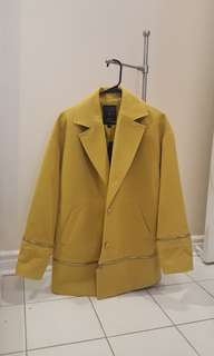 BNWT Guess yellow cocoon coat