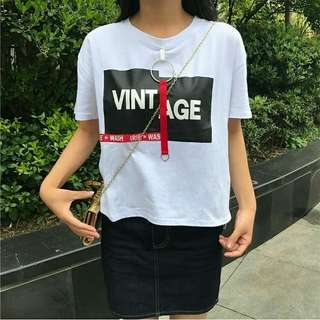 Preorder❗ Women's Korean Ulzzang Style Loose Ring T-shirt👚