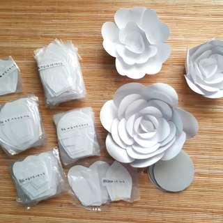 White Giant Paper Flower DIY Kit for Wedding - 28pcs