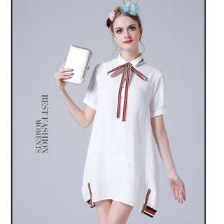 <READY STOCK > White Casual Dress