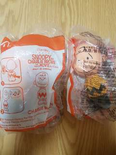 Charlie Brown happy meal toy