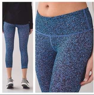 Lululemon Wunder Under Crop Pants Flashback Static Print Size 4