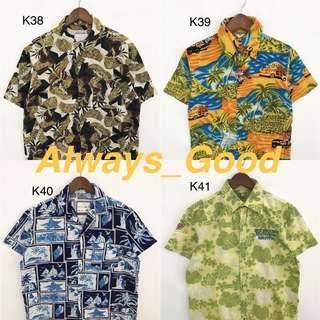 5/9 Vintage- 夏威夷 海島風情 一起去海邊吧 短袖襯衫