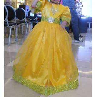 Yellow Gown (for rent w/refund of 500)