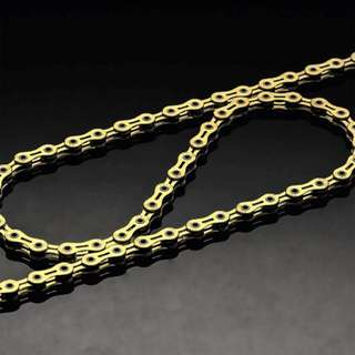 Taiwan PYC Hollow Link Gold Color Chain 10 Speed (Super Light weight)