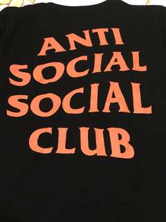 Anti social social club x undefeated tee