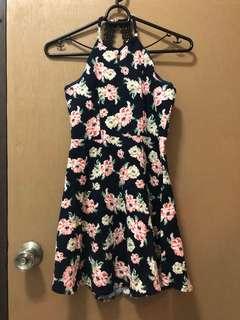 Halter Skater Dress with Floral print