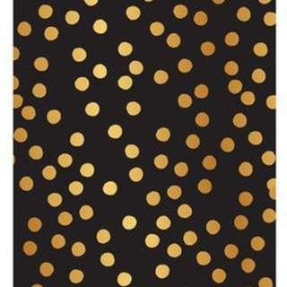 Hampton Art Studio G - Black Stitch Blank Journal (Goil Foil Polka Dots)