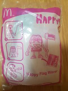 McDonald's Happy Meal Toy Happy Flag Waver