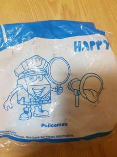 Happy meal toy happy policeman mcdonalds