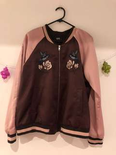 Dotti Embroidered Bomber Jacket
