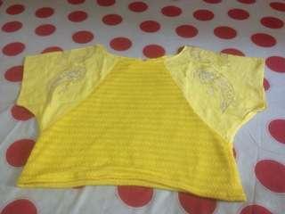 Crop yellow vintage blouse