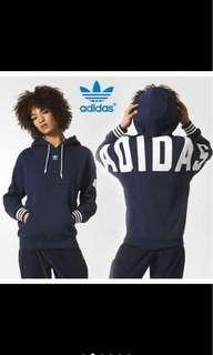 🚚 Adidas hoodie藍色s號 二手