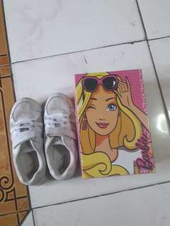 Barbie white rubber shoes