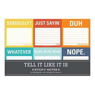 Knock Knock Sticky Notes - Tell It Like It Is