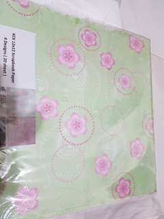 scrapbook paper oriental design