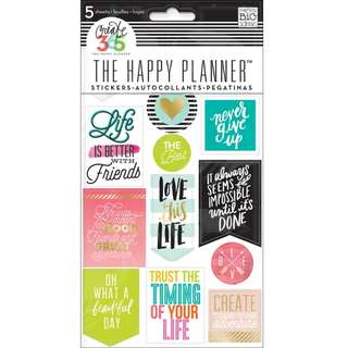 Create 365 - The Happy Planner -  Planner Stickers Book (Life Quotes)