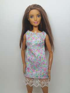 Pastel Blue floral May 2018 Collection Barbie Dress