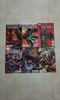 "Venom Vol 2 (Marvel Comics 6 Issues; #26 to 30 plus #27.1, Minimum Carnage tie-in and complete story arc on ""Devil's Pack"")"