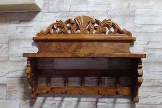 Vintage Solid Teak Wood Kayu Jati Wall Deco