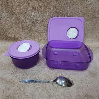 Tupperware Preloved Cosmo Violet 600ml & 400ml