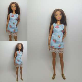 Pastel Blue Sleeveless Barbie Dress May 2018 Collection
