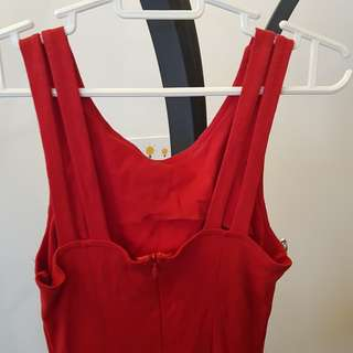 Club Couture red skater dress