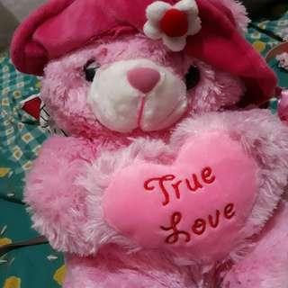 Boneka teddy bear warna pink 💞😊
