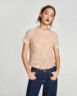 LOOKING FOR: Zara Lace Top