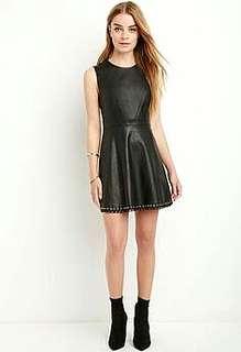 Brandnew Forever 21 Leather Eyelet Detailed Dress