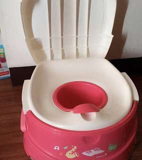 Safety first musical potty