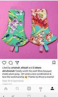BN reversible Tula drool pad bliss bouquet + plum posy