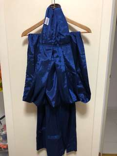 Moms in Mind Sarong in Satin Blue