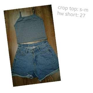 crop top & hw short
