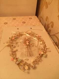 婚紗頭飾及髮夾套裝 全新未用過 100% New