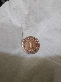 1 Pfennig Jerman Th.1891