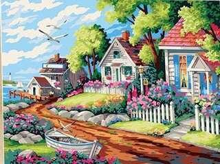 數字油畫 - 夢幻別墅