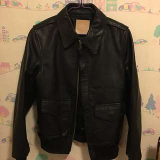 Houses cow hide real leather A2 military jacket