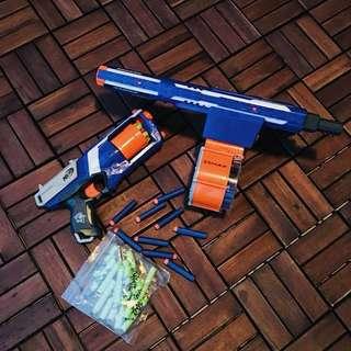 Lot of 2 Nerf Guns (Strongarm & Rampage)