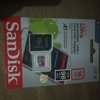 Sd card micro sd,  sdhc sandisk 16gb