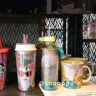 【預購】台灣代購 Starbucks 星巴克 隨身瓶 冷水壺 冷水杯 玻璃杯 櫻花杯