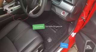 Honda. Honda Civic 2017. Carmats. Car carpets. Coil mats