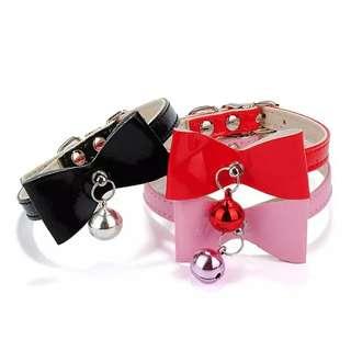 Adjustable PU Leather Kitten Cat Puppy Dog Collar