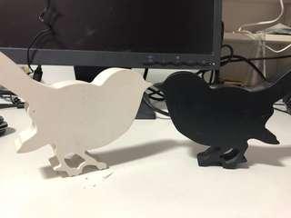 Lovebird figurines