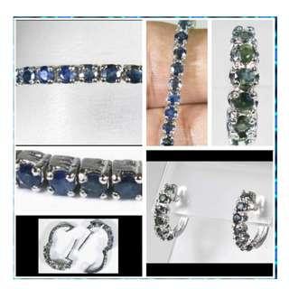 Beautiful Blue Sapphire set